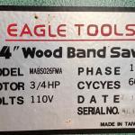 14' wood band saw