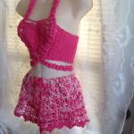 Fun in the Sun Crocheted 2 pic Bralette & Shorts