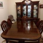 China Cabinet and dining room table for sale
