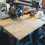 "Sears Craftsman 10"" radial arm saw w/stand"