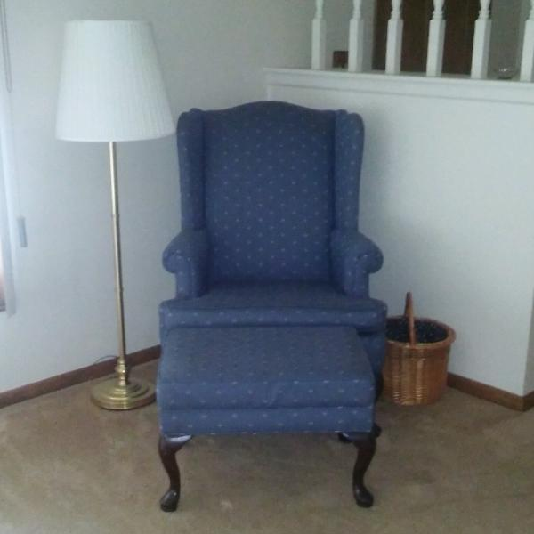 Photo of Wing Back Chair and Ottoman
