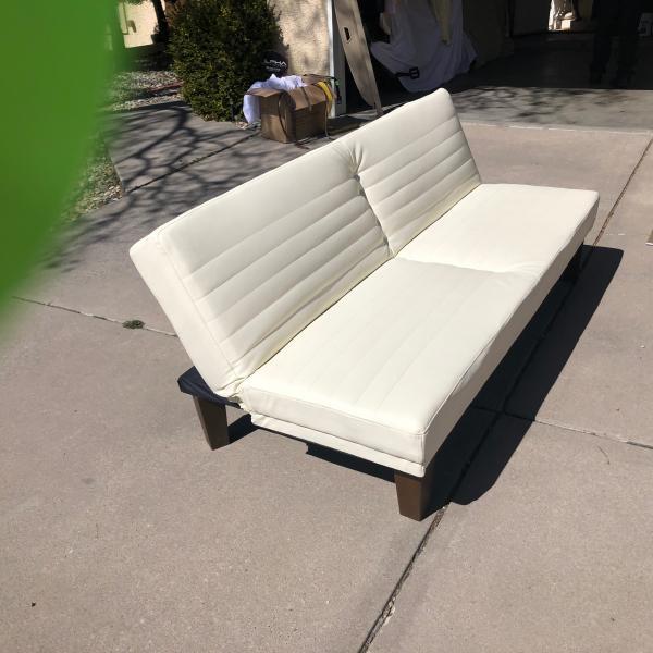 Photo of White pleather futon