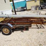 Steel frame for trailer