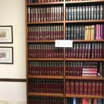 """Tall SOLID WOOD bookcase (98"""") from law firm closing"""