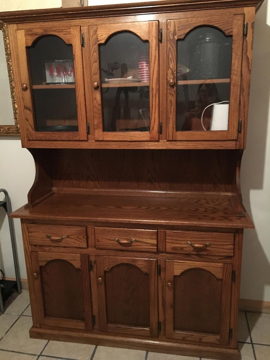 Photo 3 of China cabinet with table  and 4 chairs .