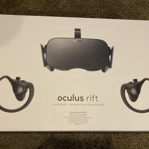 Photo of Oculus Rift CV1 bundle with controllers and two sensors