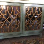 Z Gallerie buffet cabinet and mirror. Or buy individually