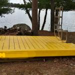 Yellow swim raft