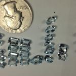 20.97 carats in 27 fine aquamarines #15117