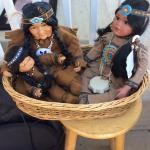 Collectible numbered Indian dolls