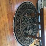6' round Persian rug