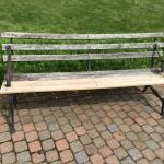 Historic iron Garden Bench 6' long