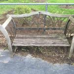 Cast iron Tulip flower bench