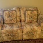 Like new three seat and two seat floral sofa for sale