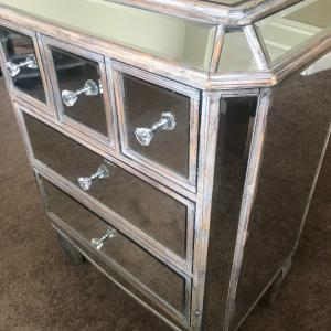 Photo of MIRRORED antique accent table