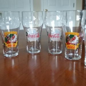 Photo of Vintage Coca-Cola Santa Claus Glasses