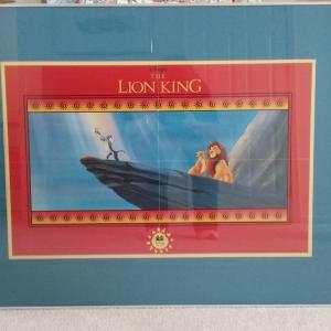 "Photo of Framed ""TheLion King"" Poster"