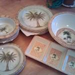 Melamine Ware - Palm Trees - Like New