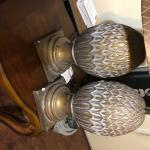 Pair of Rustic pine cone lamps.