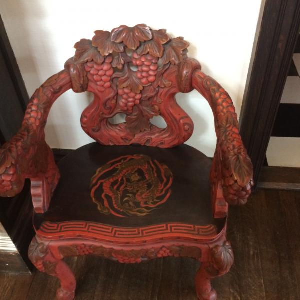 Photo of Chinese Dragon Antique Armchair
