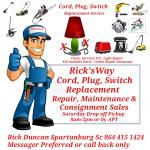 Tool, Vacuum, Small Appliances Repair Services and or Assessment Sale