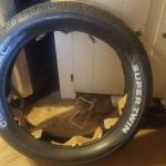 Single motorcycle tire