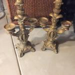 Set of matching candelabras