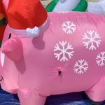 Snowflake Pig Christmas Inflatable