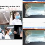 Transparent Adkustable Face Shield and Masks