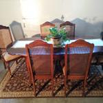 Dining Table, Chairs & China Cabinet