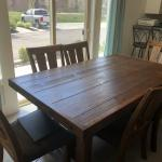 Dining room set Table ,1 leaf, 6 chairs