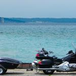 2003 Honda Gold Wing GL1800 with CycleMate WindRaider cargo trailer