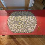 BEAUTIFUL Antique Coffee table--custom painted with so much detail