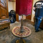 Medieval Gothic Antique Vintage Velvet Floor Lamp w/ shade - 1 lamp