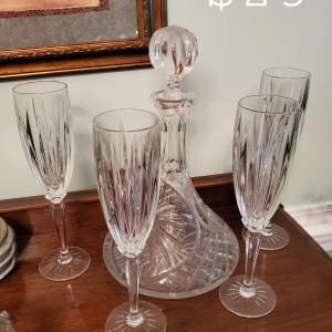 Photo of Champagne Flutes and Decanter