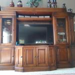 HEAVY WOOD ENTERTAINMENT CENTER