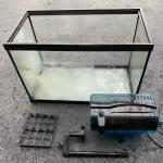 20 gallon Aquarium $25., fish feeder, Pump , skateboards, coffee makers