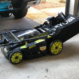 Photo of Ryobi self propelled lawn Mower