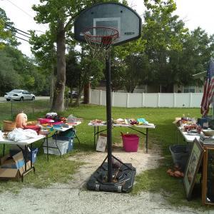 Photo of Adjustable basketball hoop with base