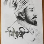 Chhatrapati Shivaji Maharaj handmade sketch