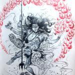 Shavaa painting, A3 size, hindu god