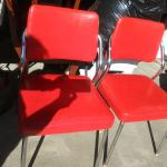Set of Red Retro Chairs