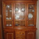 2 piece Pine  Wood China Cabinet