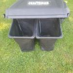 Craftsman grass twin bagger 24 inch 26 inch ride on attachment