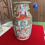 Qianlong Famille Rose Medallion Asian Vase