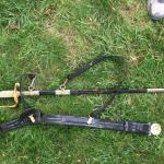 US Navy Officer Dress Sword Belt with Hanger Straps