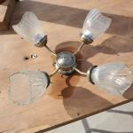 3 sets of ceiling fans light kits