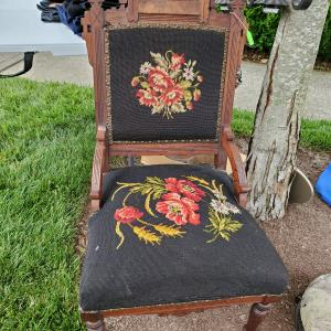 Photo of Victorian needlepoint chair