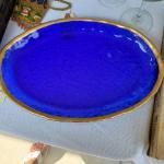 Cobalt blue platter