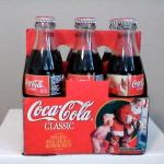 1995 Christmas unopened Coca-Cola Classic bottles   ..6  bottles in carton